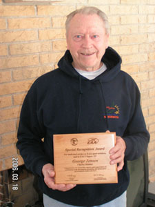 Charter Member George Jensen Receives 50 Year Plaque